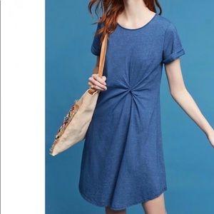 Holding Horses // NWT Blue Twist Front Shirt Dress